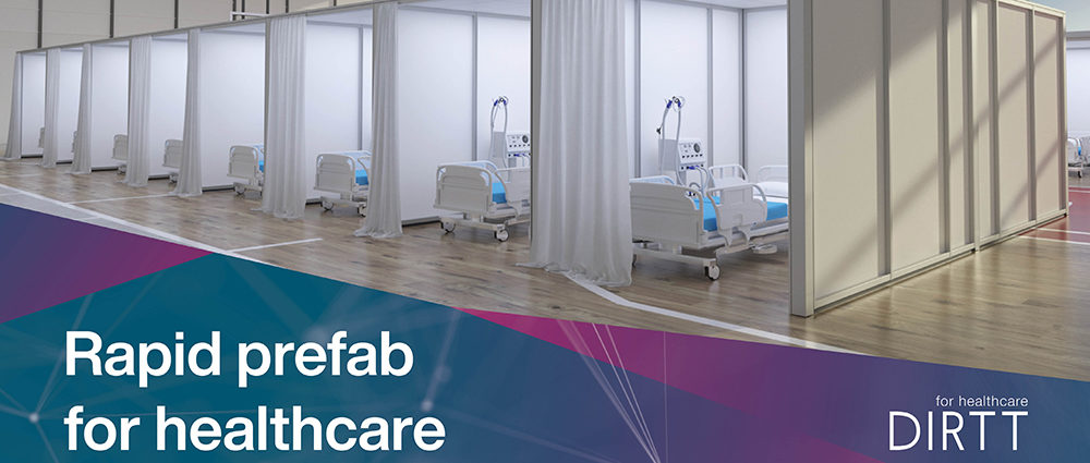 DIRTT prefabricated interiors healthcare flexible modular wall system