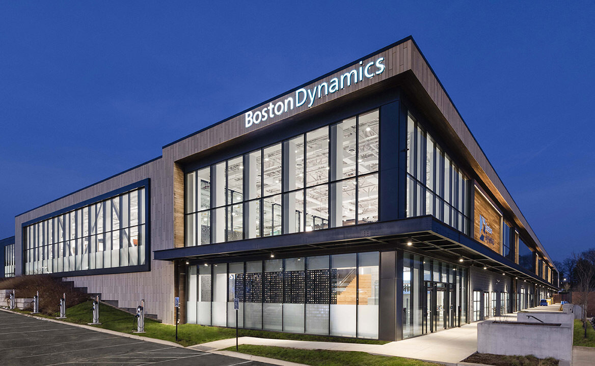 Boston Dynamics Office Waltham MA Creative Office Pavilion Commercial Furniture Collaboration