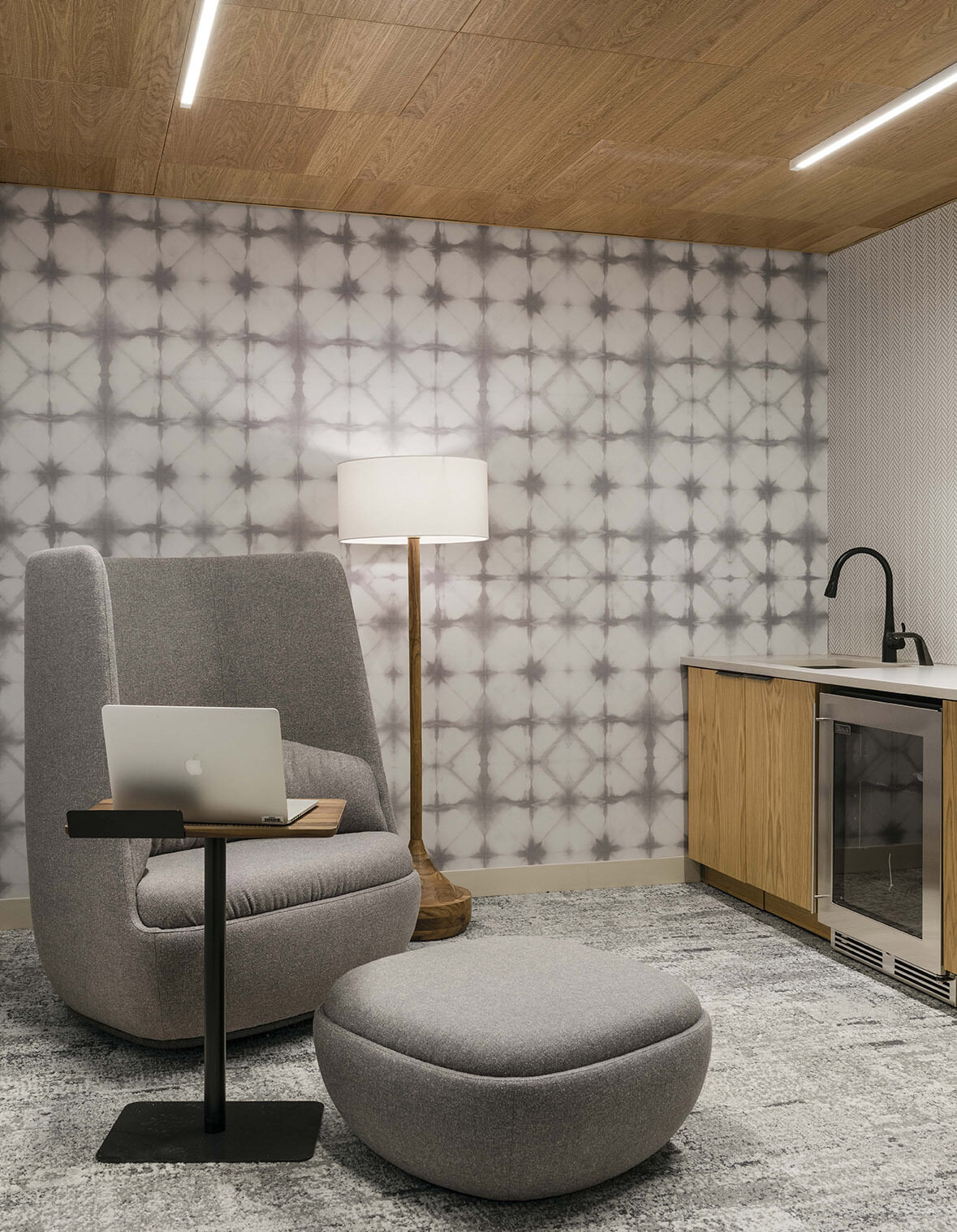 Boston Dynamics private mother's room recovery area, quiet space with comfortable seating office space
