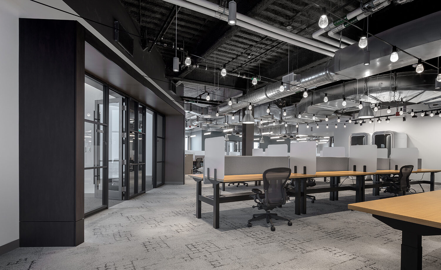 Thrive Open Office Workstation space Herman Miller Aeron chair office space