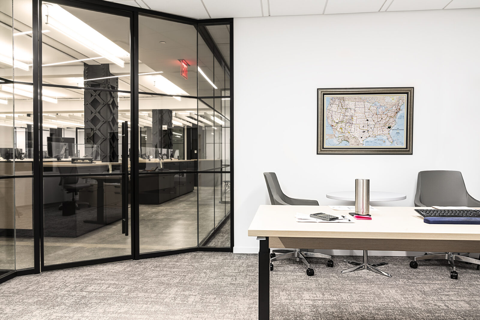 Creative Office Pavilion NYC New York City Private Office with Herman Miller Commercial Furniture