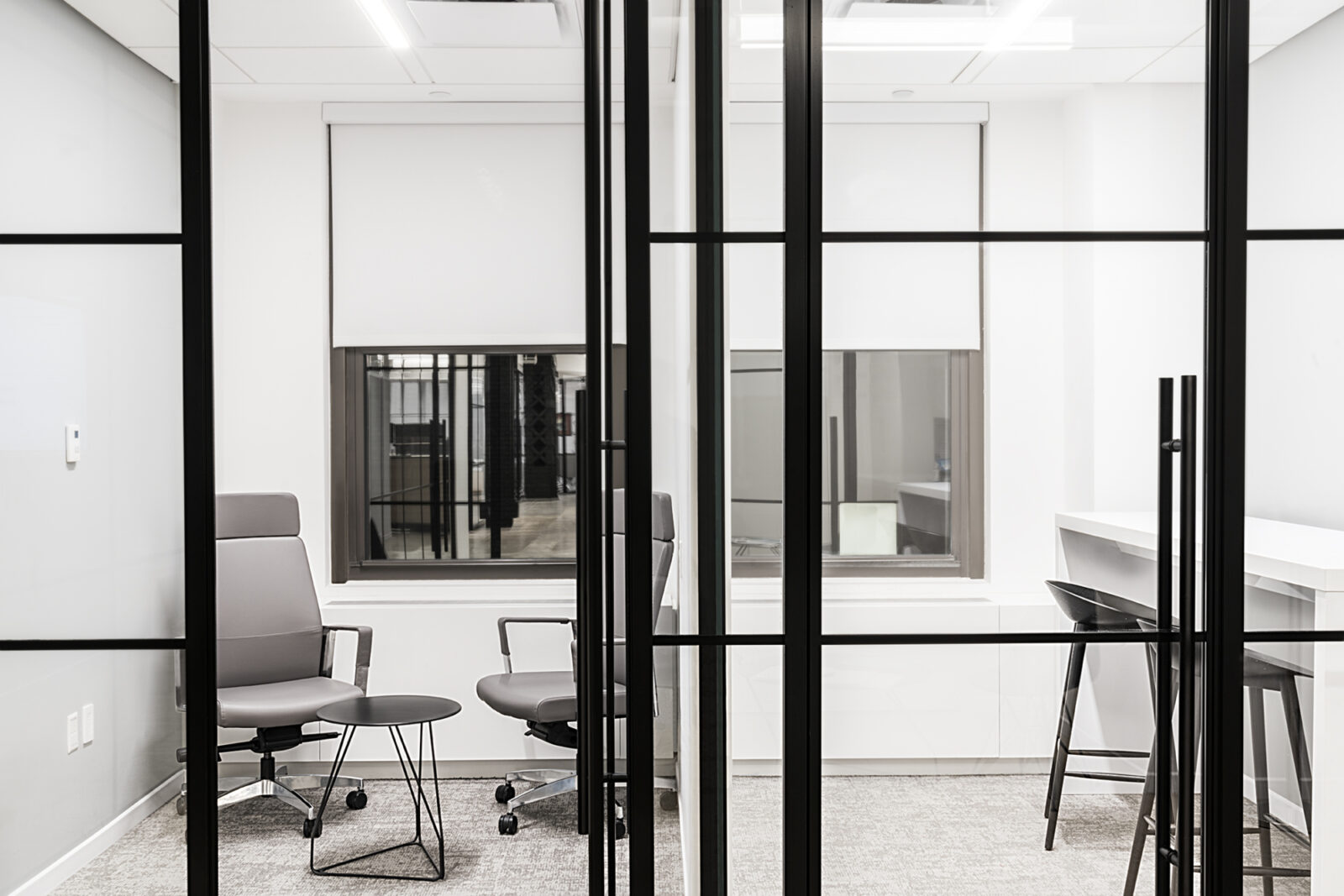 New York City Real Estate Client Commercial office space collaboration meeting area Creative Office Pavilion Open Plan Office