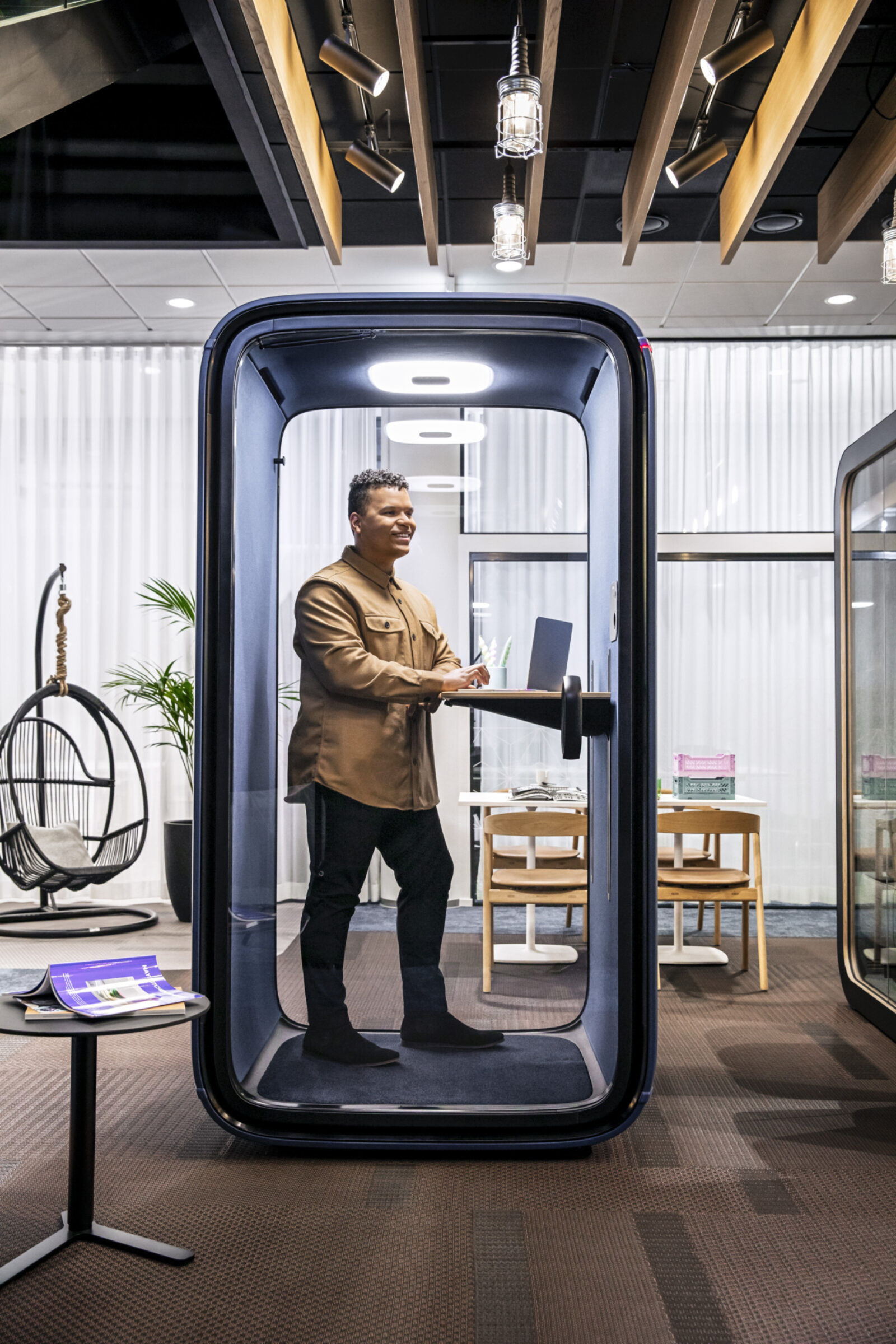 Framery office soundproof phone booth, privacy pod, soundproof booth, solo pod, connected pod boston nyc