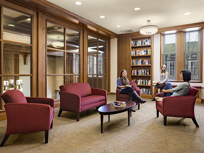 Educational Office Design Education Furniture Services Boston College Private Library